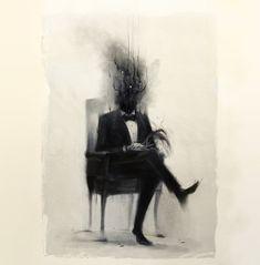 Portrait of dead man by Damien Mammoliti
