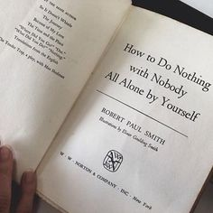 How to Do Nothing with Nobody All Alone by Yourself | Community Post: 8 Books For Loners