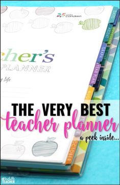 It doesn't get much better than organized teacher planner! Take a peek inside as I guide you through it, page by page! |  Erin Condren teaching planner | best teacher planner | teaching planner binder | teacher organization |  classroom organization | curriculum planner | teaching resources | kindergarten planning | first grade planner