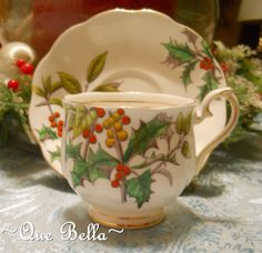 royal albert christmas teacup  - Flower of the month series - December from the 50's.