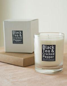 Black Tea & Cracked Pepper Candle $14 [Bottle Green Home]