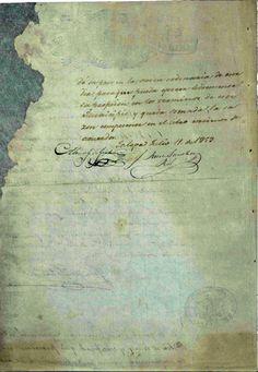 DOCUMENTO-111-C2. (1 imagen reverso) Expediente que comprende los documentos relativos al destierro del  ciudadano Benito Juárez. Oaxaca, Puebla; Jalapa, mayo-diciembre de 1853. Benito Juárez, vol. 1, exp. 26, fs. 13, 14 y 15 ~ AGN