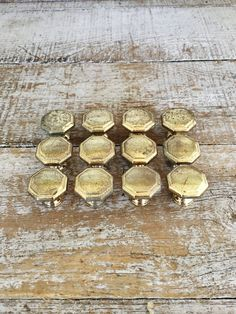 Drawer Knobs 12 Drawer Pulls Octagon Shaped Brass Drawer Knobs Dresser Drawer Knobs Cabinet Door Knobs Decorative Drawer Pulls Mid Century by TheDustyOldShack on Etsy
