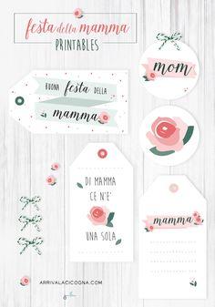 Festa della Mamma: tags & printables da scaricare!  www.ArrivaLaCicogna.com