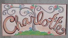 Custom Name Painting by PersonalizePaintings on Etsy