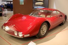 Ferrari Dino 206 GT Speciale (1965). Concept car by Pininfarina presented at the 1965 Paris Motor Show.