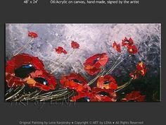 """Poppies - """"Black, Red and White"""""""