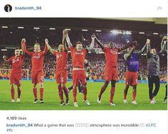 Brad SMith on Instagram after LFC beat BVB