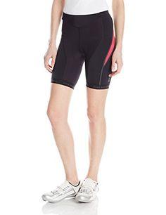 GORE BIKE WEAR Women's Oxygen Tights Short+, Black/Jazzy Pink, Large Gore Bike Wear $80.63