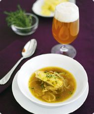 Perfect onion soup with lager  recipe in finnish