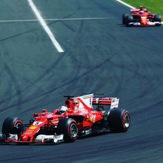 Sebastian Vettel and Kimi Raikkonen.  Ferrari, Scuderia Ferrari  Formula 1, F1  WRC Rally F1 Nascar on tumblr