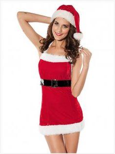 Christmas clothing ( velvet belt dress )