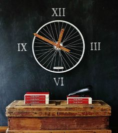 Bicycle Wheel Turned Into Clock