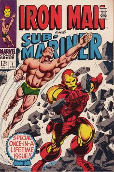 For sale marvel comics iron man and submariner 1 silver age 1968 gene colan johnny craig artwork bill everett tales of suspense 99 tales to astonish 101 comic book emorys memories. Marvel Comics Superheroes, Marvel Comic Books, Comic Books Art, Comic Art, Dc Comics, Marvel Characters, Marvel Heroes, Planet Comics, Marvel Avengers