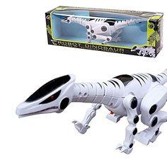 PowerLead Robot Dinosaur avec Roaring son Walking Red Flash Light for Kids: Mettez sur le bouton pour faire ce dinosaure š€ pied. Fait,…
