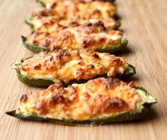 Roasted jalapeno poppers are a spin on the traditional favorite. Still full of flavor and cheese, making them perfect for your game day spread!