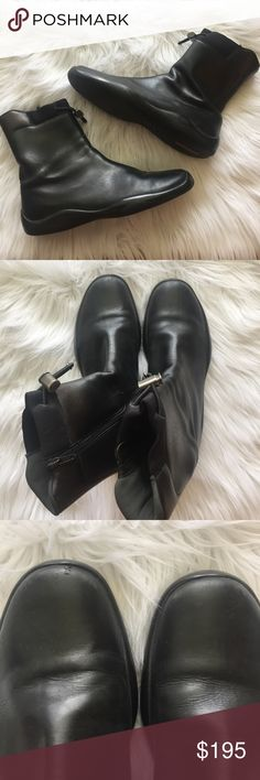Prada Boots Prada Boots. Excellent condition. No trades. Size 10 (40). See photos for little scuffs. Comes with dust bag. Prada Shoes Winter & Rain Boots