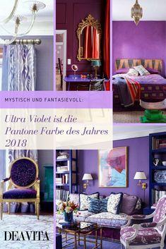 Die Pantone Farbe des Jahres 2018 ist gekürt. Wir geben Tipps und Ideen, wie Sie Pantones Ultra Violet richtig in der Mode und Einrichtung einsetzen. #lifestyle #color #violet
