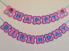 Doc McStuffins birthday banner doc McStuffins party by NiuDesigns