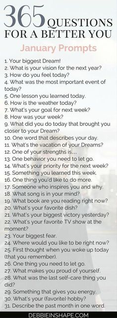 365 questions for Group accountability, support and fun #FunTimes