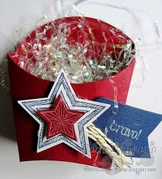 Rachel's Stamping Place: Red, White Blue Spring Projects, 3d Projects, Fry Box, Berry Baskets, Pillow Box, July Crafts, Photo Craft, Stamping Up, Keepsake Boxes