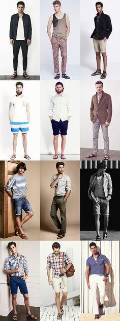 Men's Leather Sandal Lookbook
