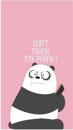 don't touch my phone foundonweheartit iphonebackground phonebackground iphonewal… – funny wallpapers backgrounds Cute Panda Wallpaper, Cartoon Wallpaper Iphone, Disney Phone Wallpaper, Cute Patterns Wallpaper, Bear Wallpaper, Kawaii Wallpaper, Locked Wallpaper, Cute Wallpaper Backgrounds, Lock Screen Wallpaper Funny