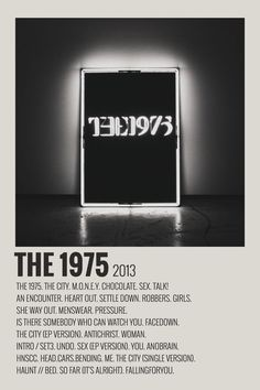alternative minimalist polaroid poster made by (me) The 1975 Poster, The 1975 Album, Vintage Music Posters, Vintage Movies, Minimalist Music, Music Collage, Iconic Movie Posters, Minimal Poster, Band Posters