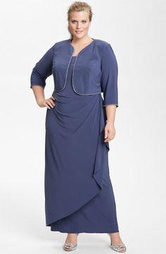 5bfcf722be5b8 Alex Evenings Rhinestone Jersey Dress  amp  Bolero (Plus) available at   Nordstrom Alex