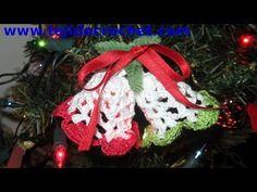 Campanas de navidad en tejido crochet tutorial paso a paso. - YouTube