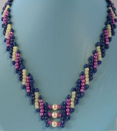 Free Pattern/Tutorial - Three Stripes Necklace