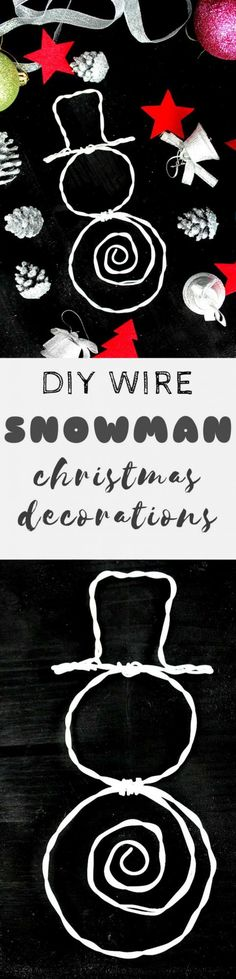 DIY WIRE SNOWMAN DEC