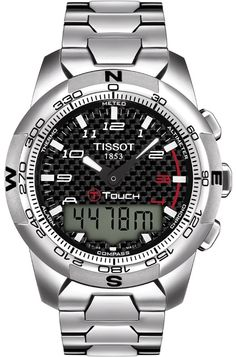 f71937a7f11 Tissot Male T-Touch Watch T0474204420700 Silver Analog Sale price.  669.95  Tissot T Touch
