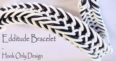This is a hooked design. No loom needed. *Zuzu* Edditude Bracelet