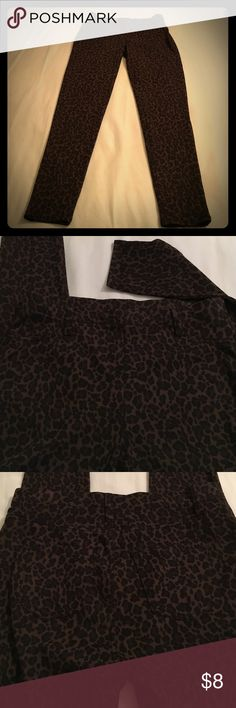 """Leopard Jean Leggings NWOT! Never worn these before. I ended up buying one of every color and need to purge! Soft and comfortable. Faux pockets in front but two pockets in back. Fashioned after jeans but leggings. Approximately 39"""" long, 29"""" inseam. Size M (8-10). Pants Leggings"""