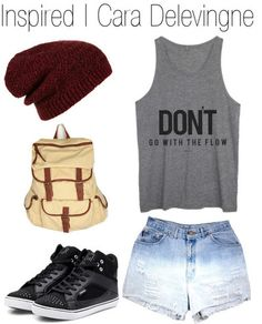 Summer Outfit maybe not the beanie but still cute