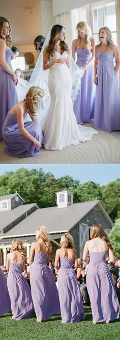 cheap lavender bridesmaid dresses, simple chiffon evening gowns.