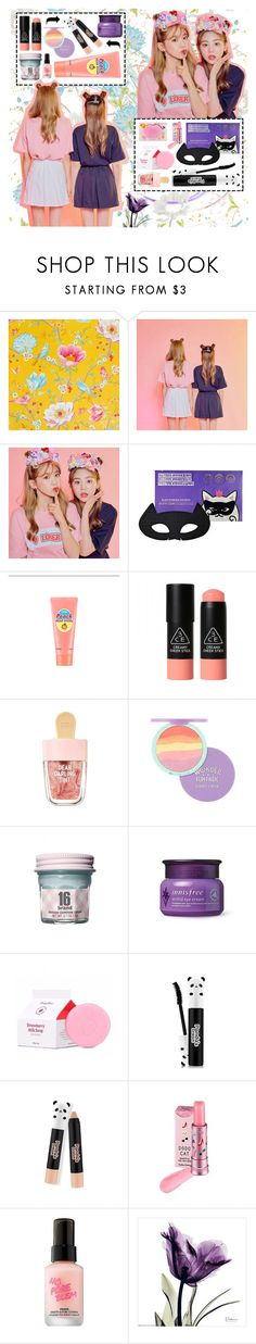 """Sweet pleats"" by beanpod ❤ liked on Polyvore featuring PiP Studio, Etude House, SkinCare, 3 Concept Eyes, TONYMOLY, Holika Holika and Touch in Sol"