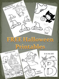 FREE Educational Halloween Printables pack - coloring, counting, math, letters and more! Perfect for preschool and younger elementary age
