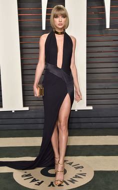 Taylor Swift from Vanity Fair Oscars Party 2016: What the Stars Wore  In Alexandre Vauthier Couture