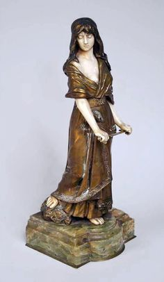 A bronze & ivory sculpture by Dominique ALONZO titled Salome. Made in France circa Signature: D. Alonzo in the bronze (hva) Art Deco, Art Nouveau, Art Eras, Mannequin Art, Eclectic Style, French Artists, Sculpture Art, Chiparus, Ivory