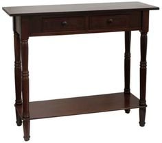 Trento Walnut 2-Drawer Console Table | 55DowningStreet.com