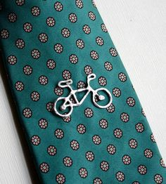 Sterling Silver Bike Tie Tack by Rachel Pfeffer Jewelry on Scoutmob Shoppe