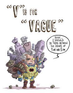 V Is For Vague by OtisFrampton on DeviantArt