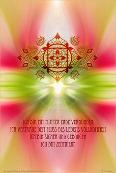 Chakra Poster Muladhara Affirmationen Mutter Erde #yogamehappy #lichterleben