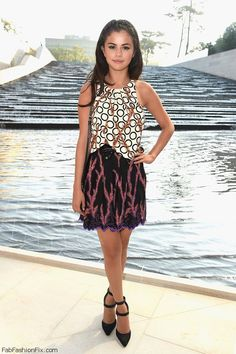 Selena Gomez dressed in Louis Vuitton while attending the Louis Vuitton show as part of Paris Fashion Week Womenswear Spring/Summer 2015 in Paris (October 2014).