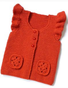Baby Sweater Knitting Pattern, Baby Knitting Patterns, Kids Vest, Baby Pullover, Yarn Tail, Baby Vest, Baby Sweaters, Knitwear, Knit Crochet