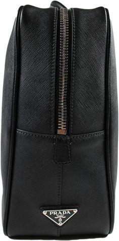 Prada black borsa da viaggio saffiano men s travel bag briefcase made in  italy 4cb2e56f78e