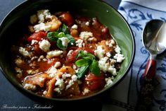 Receitas para a Felicidade!: Sopa de Tomate com Requeijão Happy Foods, Chana Masala, Chili, Healthy, Ethnic Recipes, Blog, Cook, Recipes, Ideas