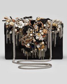Saint Laurent / Embellished Shoulder Bag